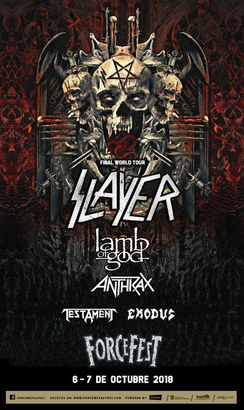 Slayer Final Tour México en Force Fest 2018