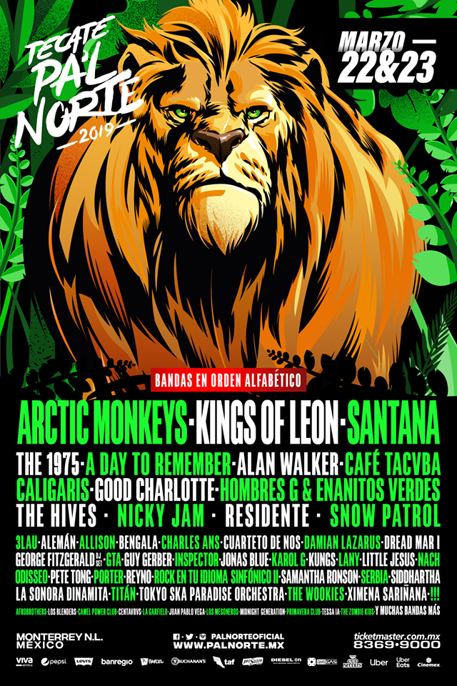 Cartel Oficial Pal Norte 2019