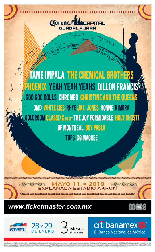 Cartel Corona Capital Guadalajara 2019