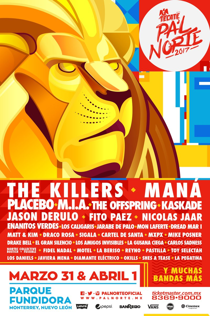 The Killers Lineup Pal Norte 2017
