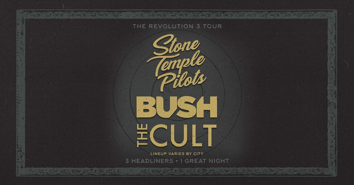 Stone Temple Pilots, Bush, The Cult Announce Tri-Headlining 'Revolution 3' Tour