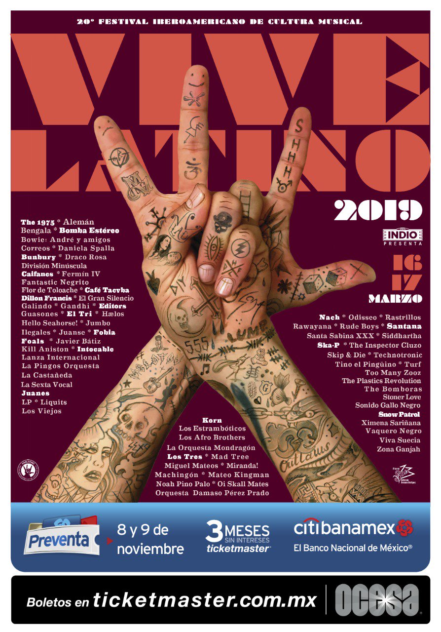Cartel Final Vive Latino 2019