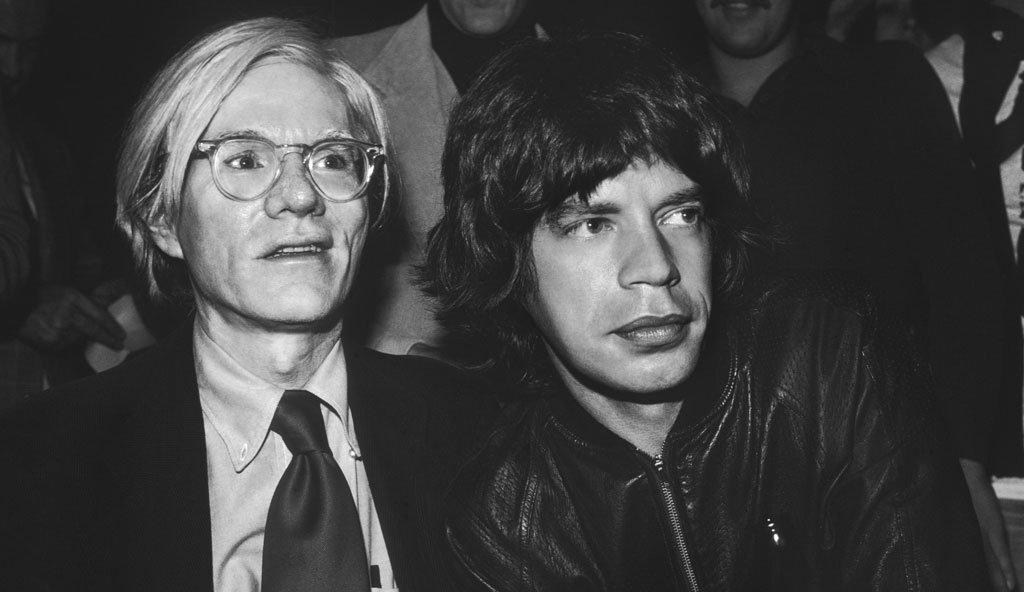 Andy Warhol y Mick Jagger