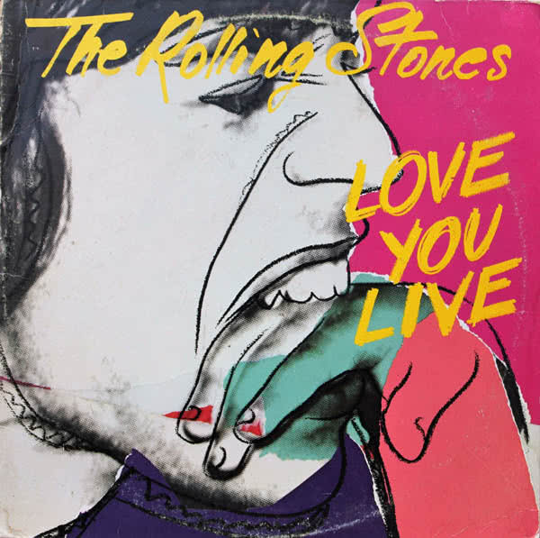 Andy Warhol Portada del disco Love You Live The Rolling Stones 1977