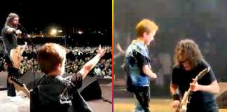 Los Foo Fighters tocan Everlong con el hijo de Scott Ian de Anthrax.