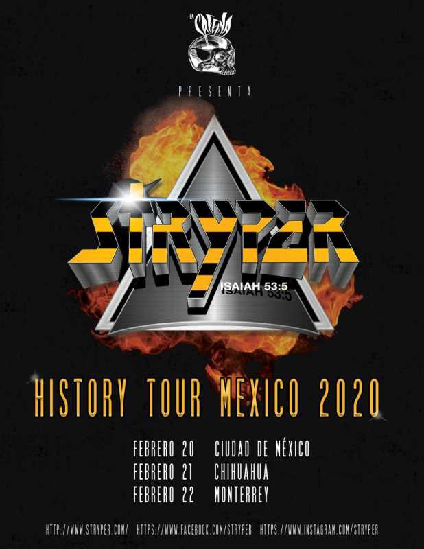 Stryper en Mexico Historic tour 2019
