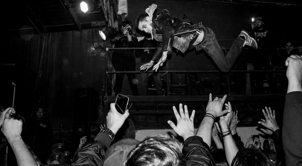 stage diving mosh pit circle pit wall of death