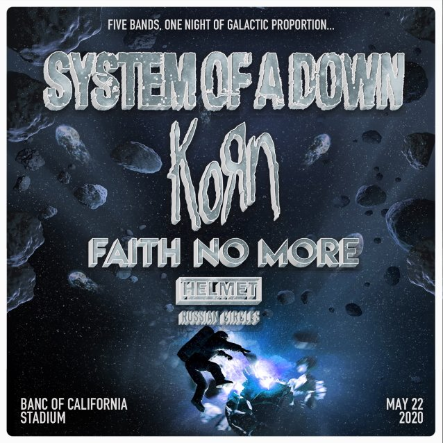 korn faith no more system of a down