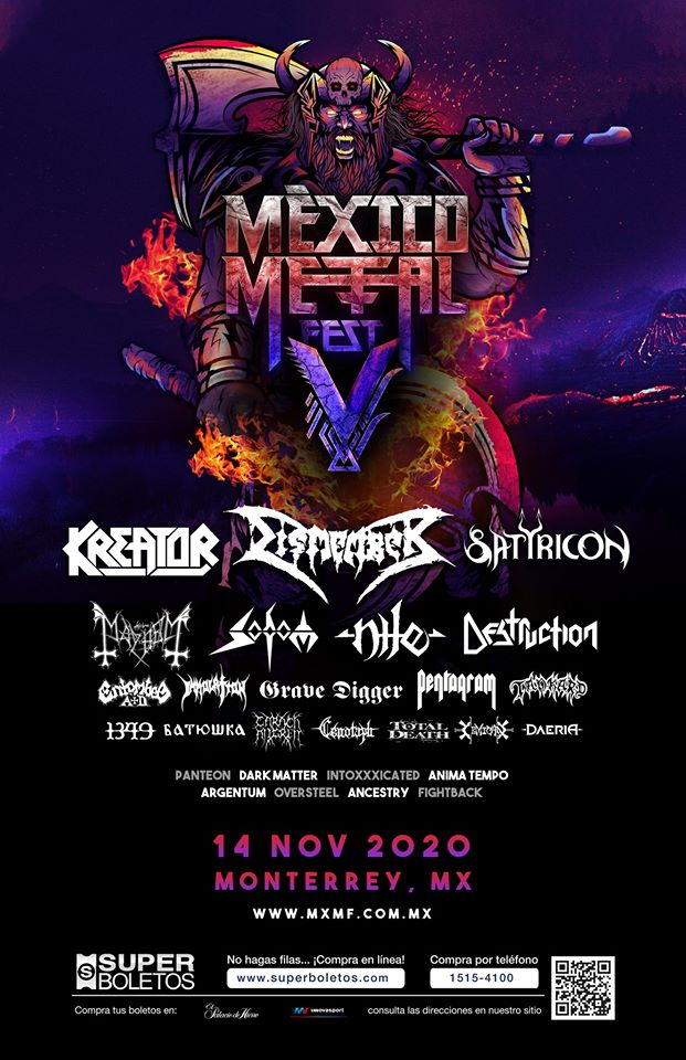 Póster final Mexico metal fest 2020