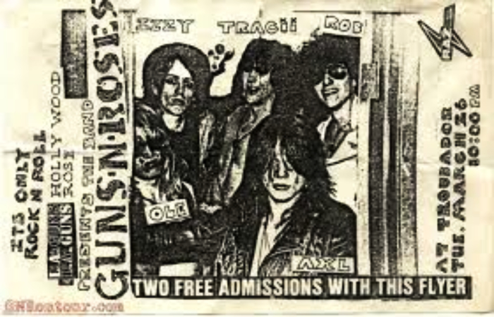 first shpw guns and roses 26 march 26 marzo