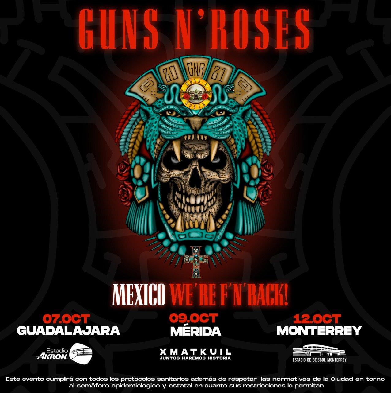 guns n roses mexico 2021