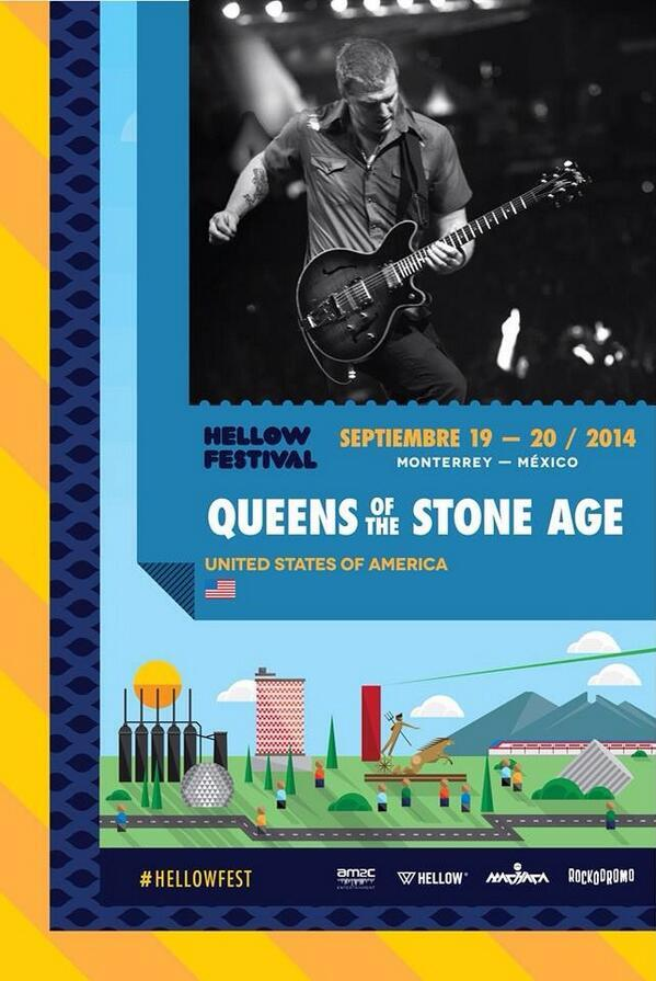 queens of the stone age monterrey hellow festival 2014